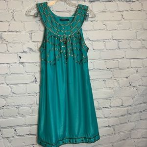 THEME Shimmery Turquoise Summer Dress - Sm